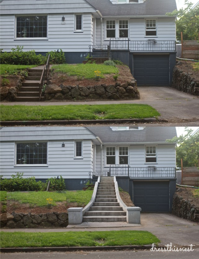 house-exterior-before-after-concrete-stairs